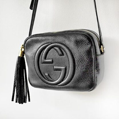 Gucci Soho Small Black Leather Disco Bag
