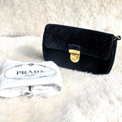 Prada Black Prada Purse Velvet