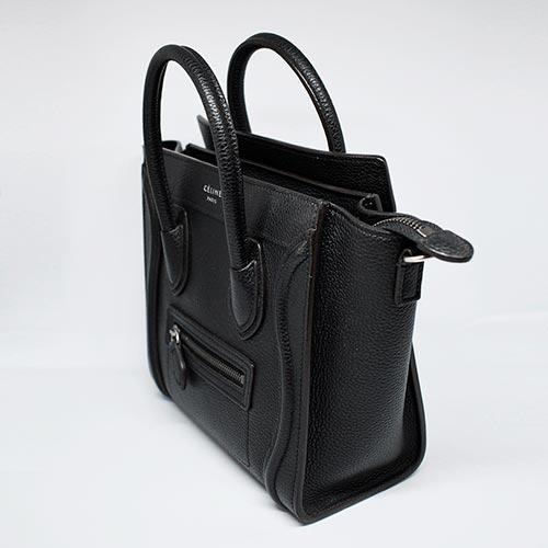 Céline Nano Luggage Bag Black