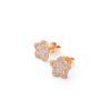 HBC Pendientes estrella oro y diamantes