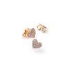 HBC Pendientes corazón oro y diamantes