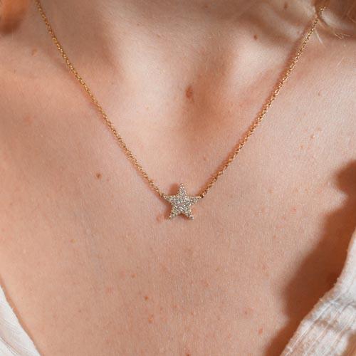 HBC Collar estrella oro y diamantes