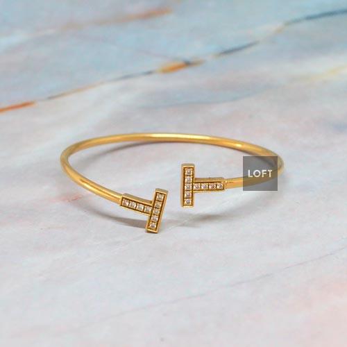 Tiffany Esclava T wire de diamantes